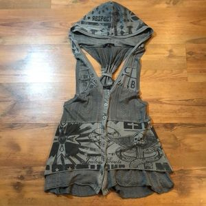 Crash and Burn Long tunic vest XS fits S M L
